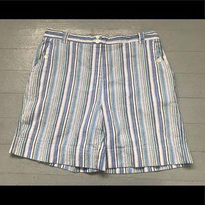 Vintage striped seersucker striped shorts
